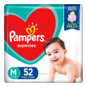 Fralda Pampers Supersec M c/52 Unidades