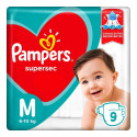 Fralda Pampers Supersec M c/9 Unidades