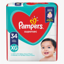 Fralda Pampers Supersec XG c/34 Unidades