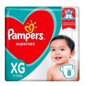 Fralda Pampers Supersec XG c/8 Unidades