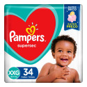 Fralda Pampers Supersec XXG c/34 Unidades