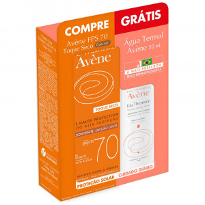 Kit Protetor Solar Avène Color FPS70 40g +Água Termal 50mL