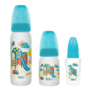 Kit Mamadeira Lillo Divertida Azul(240+120mL+Chuquinha 50mL)