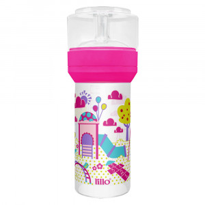Mamadeira Lillo Super Divertida Ortodôntica 260mL - Rosa