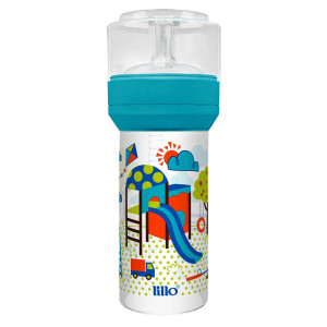 Mamadeira Lillo Super Divertida Ortodôntica 260mL - Azul
