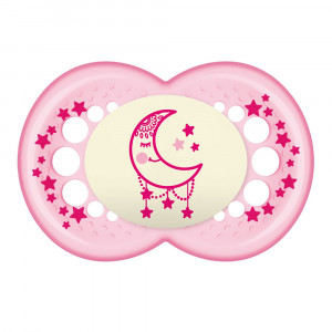 Chupeta MAM Night Original +6 Meses Tam 2 - Rosa - 2526