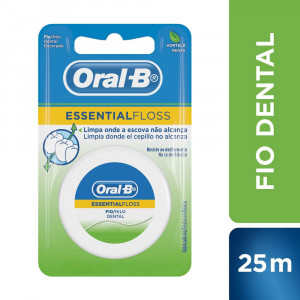 Fio Dental Oral-B Essencial Floss Menta 25m