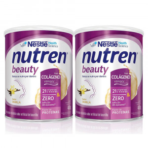 Kit 2x400g NUTREN BEAUTY Baunilha Lata